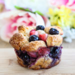 Breakfast Berry Monkey Bread Cups - How to Love Cooking